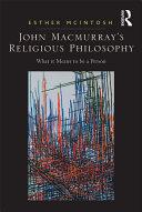 Pdf John Macmurray's Religious Philosophy Telecharger