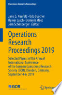 Operations Research Proceedings 2019 Book