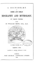 A Dictionary of Greek and Roman Biography and Mythology: Earinus-Nyx