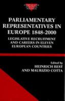 Parliamentary Representatives in Europe, 1848-2000