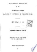 Transcript of Proceedings of the Emergency Board Appointed by the President of the United States