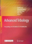 Advanced Tribology