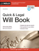 Quick   Legal Will Book