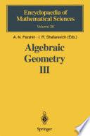 Algebraic Geometry III