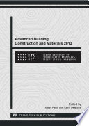 Advanced Building Construction and Materials 2013