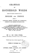 Pdf Grammar of Household Words Adapted to the Separate Or Simultaneous Study of English and French ...