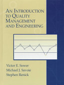 An Introduction to Quality Management and Engineering