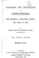 Handbook for Travellers in Constantinople