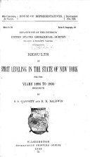 Results of Spirit Leveling in the State of New York for the Years 1896 to 1905 Inclusive