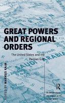 Great Powers and Regional Orders [Pdf/ePub] eBook