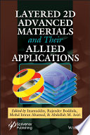 Layered 2d Materials And Their Allied Applications Book PDF