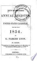 The New Hampshire Annual Register  and United States Calendar Book