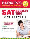 Barron s SAT Subject Test  Math Level 1  6th Edition Book
