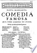 Santa Margarita  Comedia famosa  in three acts and in verse