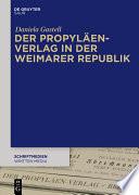 Der Propyläen-Verlag in der Weimarer Republik