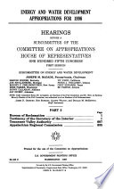 Energy and Water Development Appropriations for 1998  Bureau of Reclamation Book