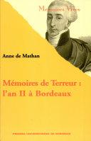 Mémoires de Terreur ebook