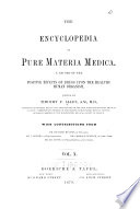 The Encyclopedia of pure materia medica v  10  1879