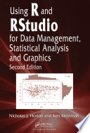 Using R and RStudio for Data Management  Statistical Analysis  and Graphics