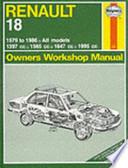 Renault Owners Workshop Manual