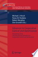 Advances In Cooperative Control And Optimization Book PDF