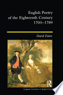 English Poetry Of The Eighteenth Century 1700 1789