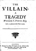 The Villain  a Tragedy  in Five Acts and in Verse   Etc