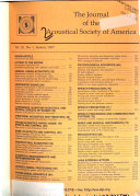 The Journal of the Acoustical Society of America