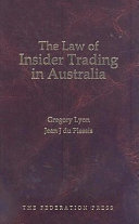 Pdf The Law of Insider Trading in Australia Telecharger