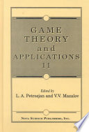 Game Theory and Applications II