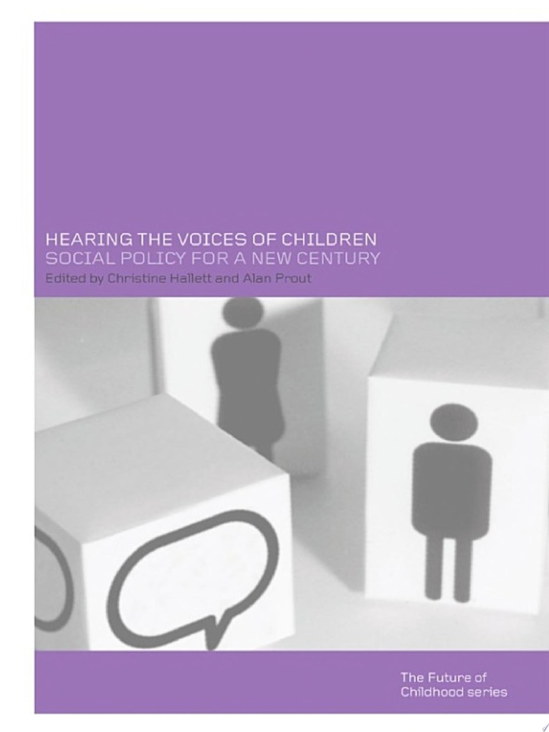 Hearing the Voices of Children