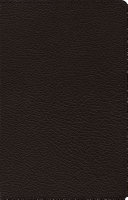 ESV Heirloom Large Print Thinline Reference Bible (Goatskin, Black)
