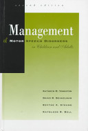 Cover of Management of Motor Speech Disorders in Children and Adults