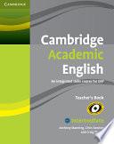 Cambridge Academic English B1  Intermediate Teacher s Book