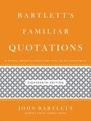 Pdf Bartlett's Familiar Quotations Telecharger