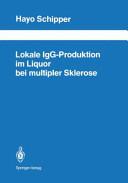 Lokale IgG-Produktion im Liquor bei multipler Sklerose