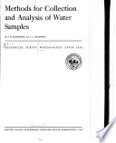 Methods for Collection and Analysis of Water Samples Book