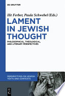 Lament in Jewish Thought Book