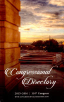 Official Congressional Directory 114th Congress, 2015-2016, ...