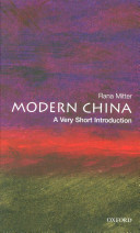 Cover of Modern China: A Very Short Introduction
