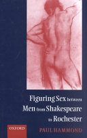 Figuring Sex Between Men from Shakespeare to Rochester