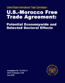 U S  Morocco Free Trade Agreement  Potential Economywide and Selected Sectoral Effects  Inv  TA2104 14