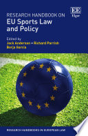 Research Handbook on EU Sports Law and Policy Book