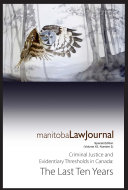 Manitoba Law Journal  Criminal Law Edition  Robson Crim  2020 Volume 43 3