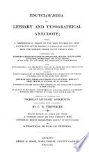 Encyclopedia Of Literary And Typograpical Anecdote