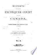 Reports of the Exchequer Court of Canada