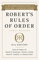 Robert's Rules of Order Newly Revised, 12th edition Pdf/ePub eBook