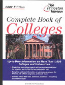 Complete Book Of Colleges 2002
