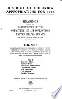 District of Columbia Appropriations for 1964  Hearings Before     88 1  on H R  7431