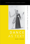 Pdf Dance as Text: Ideologies of the Baroque Body Telecharger